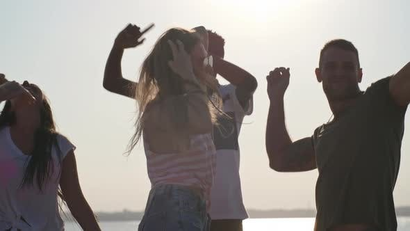 Thumbnail for People Partying on Beach