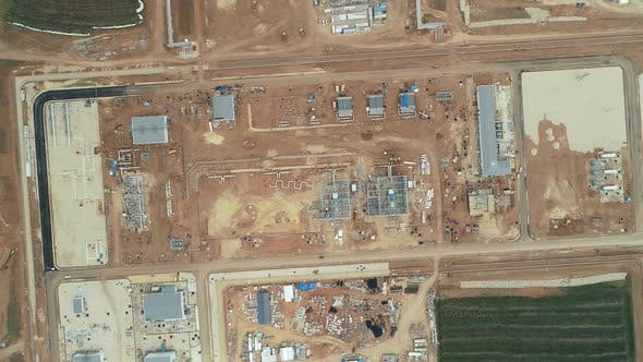 Thumbnail for Construction Site Empty Field Aerial View 9