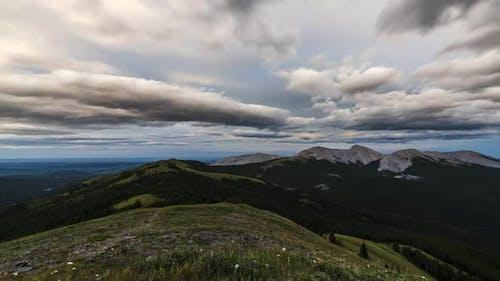 Alberta Foothills at Sunset  Timelapse
