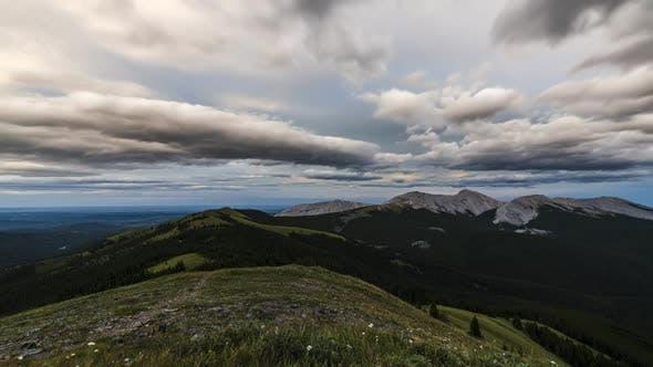 Thumbnail for Alberta Foothills at Sunset  Timelapse