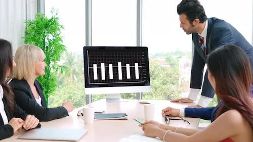 Business Visual Data Analyzing Technology By Creative Computer Software