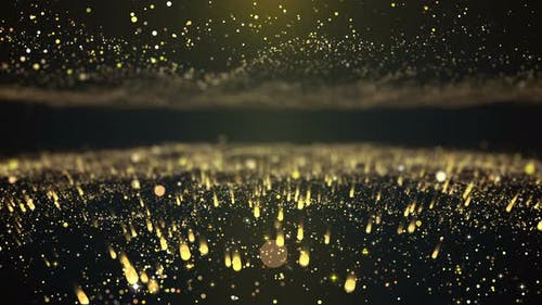 Light Particle Flowing Background