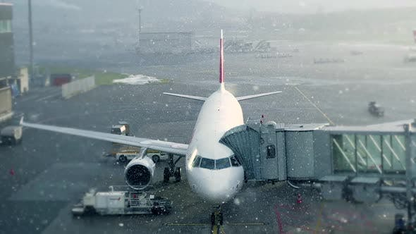 Thumbnail for Commercial Passenger Aircraft Plane Standing at Airport