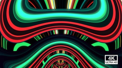Abstract Colorful Lights Reveal 4K