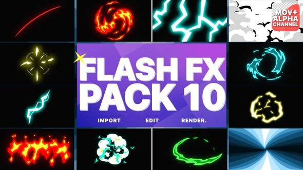 Thumbnail for Flash Fx Elements Pack 10 | Motion Graphics