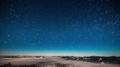 Milky Way Time Lapse in Carpathian Mountains