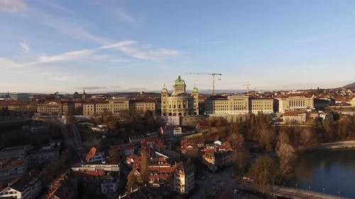 Federal Palace of Switzerland aerial view