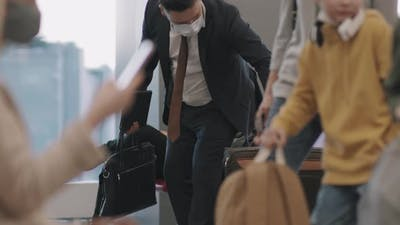 Passengers At Departure Lounge