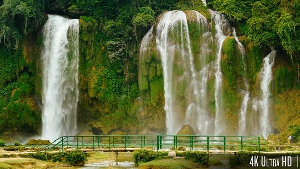 Cover Image for 4K Ban Gioc - Detian Waterfall in Cao Bang, Vietnam