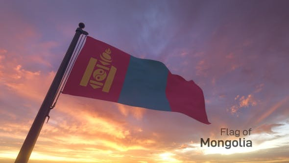 Thumbnail for Mongolia Flag on a Flagpole V3