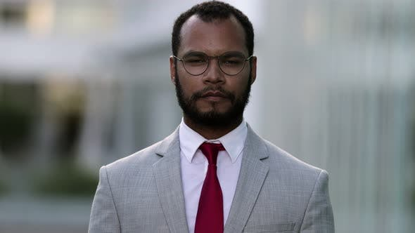 Thumbnail for Confident African American Man Looking at Camera