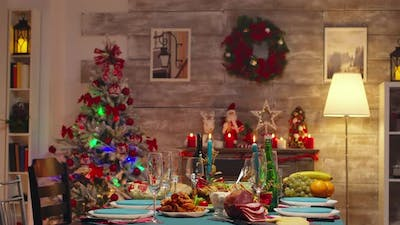 Gourmet Food for Christmas Celebration on the Table