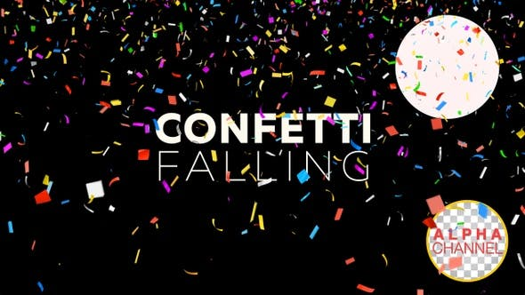 Thumbnail for New Year Celebration Confetti Falling 4K