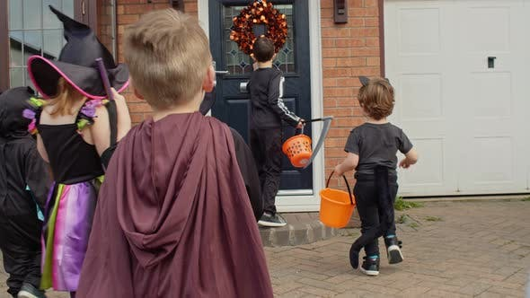 Thumbnail for Children in Halloween costumes