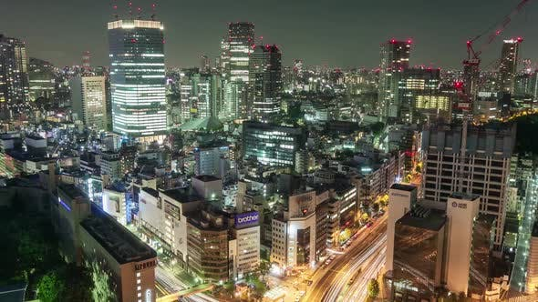 Thumbnail for Night Time Lapse Cityscape Tokyo Japan