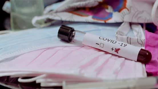 Positive Test Covid19 Sars Coronavirus Epidemic Concept