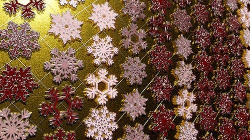 Rotating Silver Snowflakes 13