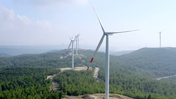 Thumbnail for Wind Turbines Spinning 1
