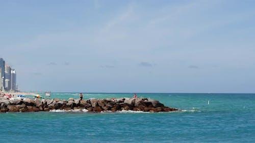 Parallax Effect Miami Beach Spring Break Scene Haulover Inlet