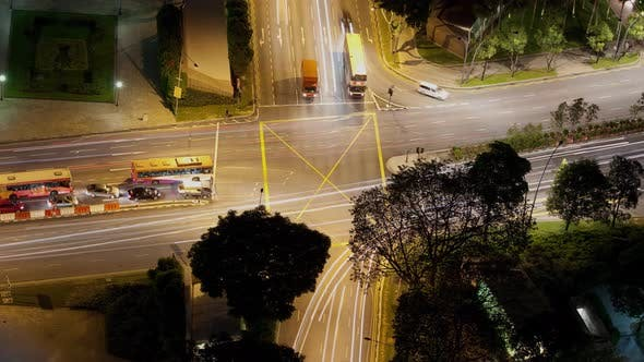 Thumbnail for Time Lapse Traffic Intersection Singapore