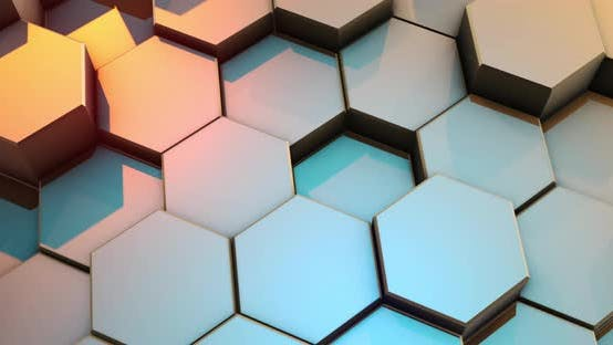 Thumbnail for Abstract Colorful Hexagon Honeycomb Background