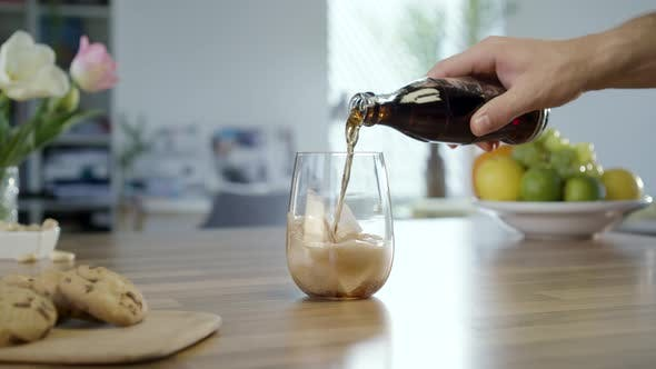 Thumbnail for Pouring Cola In To Glass