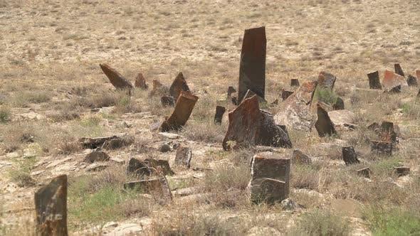Tombstones And Obelisks in The Prehistoric Cemetery