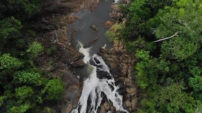 Waterfall In Mountains, Srilanka Waterfall