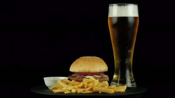 Thumbnail for American Burger with Chiken and Beer