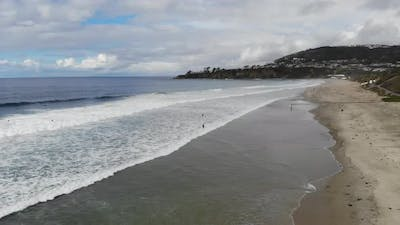 Surfers Paddling Out 4 K