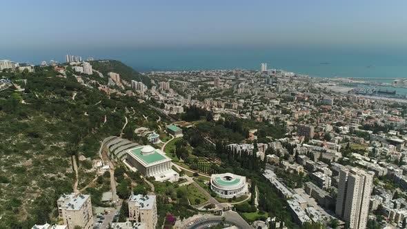 Aerial shot of Haifa