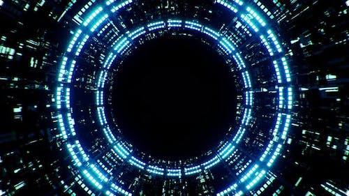 Sci fi Tunnel Logo Place Holder 4K