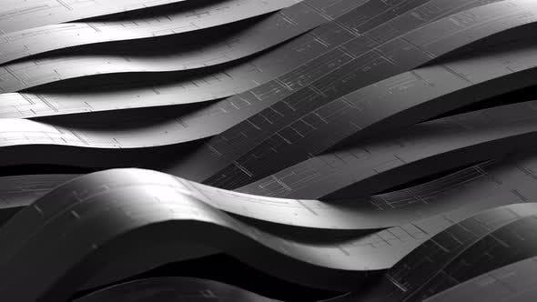 Futuristic Wave Black