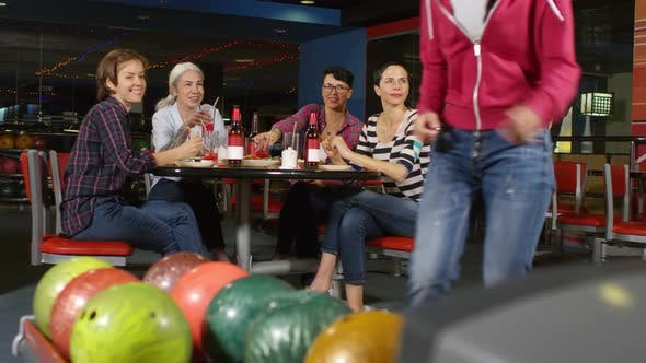 Thumbnail for Female Friends Having Fun at Bowling Alley