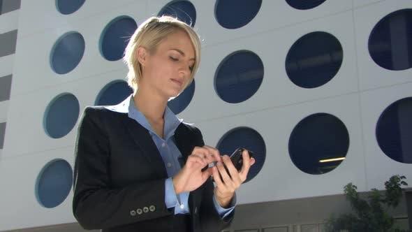 Female answering phone call