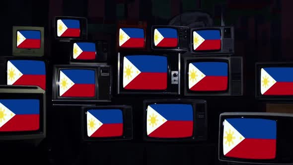 Thumbnail for Flag of the Philippines and Retro TVs.