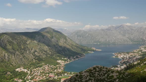Thumbnail for Time lapse from Kotor Bay from a mountain
