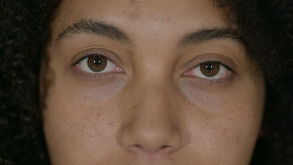 Thumbnail for Close Up of Blinking Eyes of African Woman