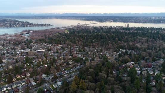 Thumbnail for Bellevue To Seattle Montlake Lake Washington Cascade Mountains
