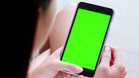 Thumbnail for Woman use of mobile phone with chroma key