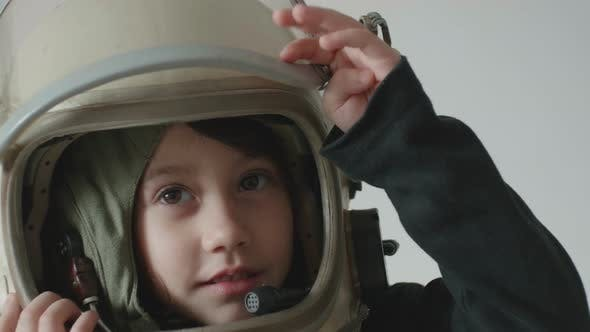 Thumbnail for Child Astronaut Salutes