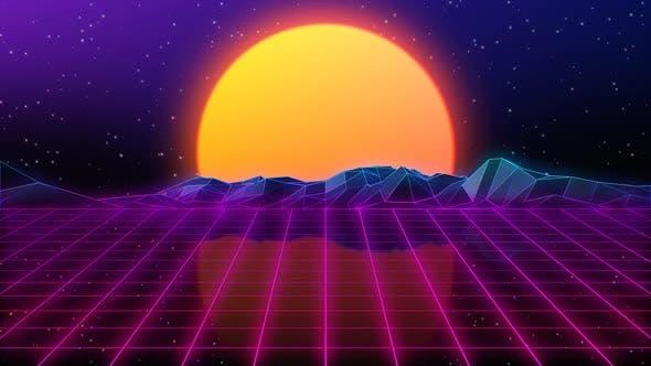 Thumbnail for 80s Retro Background 05
