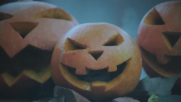 Cover Image for Carved Pumpkins, Scary Symbols of Halloween Holiday