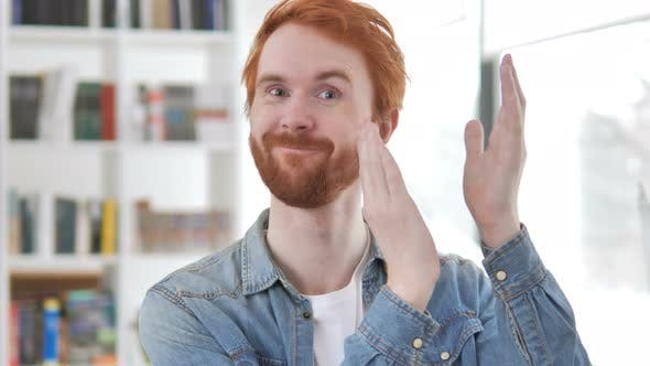 Thumbnail for Applauding, Clapping Casual Redhead Man