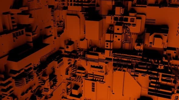 Thumbnail for Dark red abstract high tech industrial tunnel structure