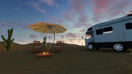 Time-Lapse Sunrise In Desert