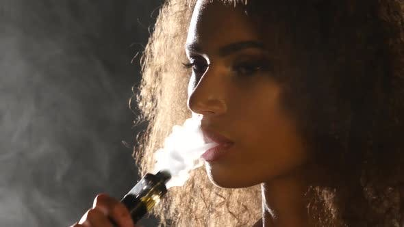 Thumbnail for Smoking E-Cigarette Vape, Girl Vaping