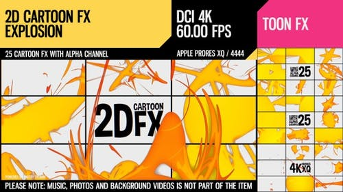 2D Cartoon FX (Explosion Set 13)
