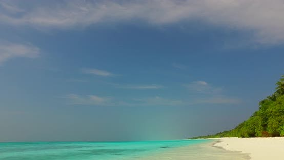 Thumbnail for Beautiful above clean view of a sunshine white sandy paradise beach and aqua turquoise water backgro