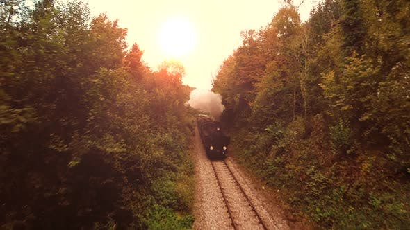 Thumbnail for Old Nostalgic Steam Engine Train Industrial Technology
